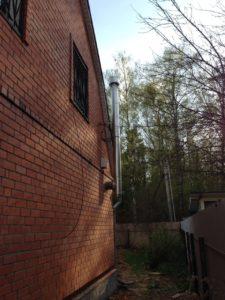 Наружный дымоход из нержавеющей стали