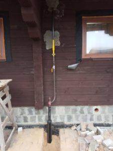 цокольный ввод газопровода